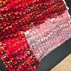 no brand Office - 2 Yard Red Fire Fish Scale Jersey Knit Fabric